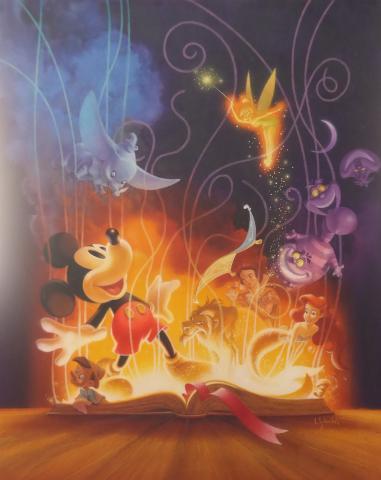 Disney Studios 75th Anniversary Original Painting Id