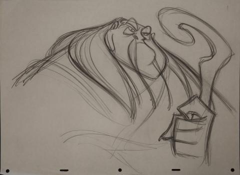 Mulan Rough Development Drawing - ID: janmulan2476 Walt Disney