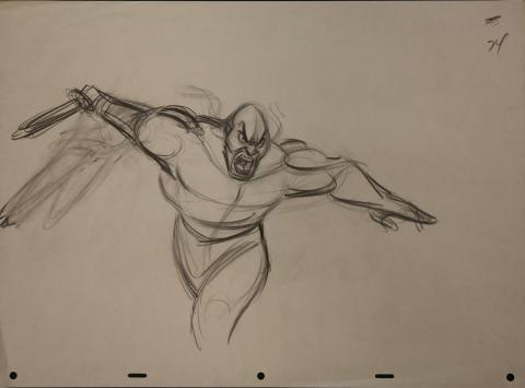 Mulan Production Drawing - ID: janmulan2479 Walt Disney