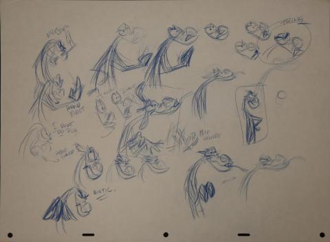 Mulan Model Drawing - ID: janmulan2483 Walt Disney