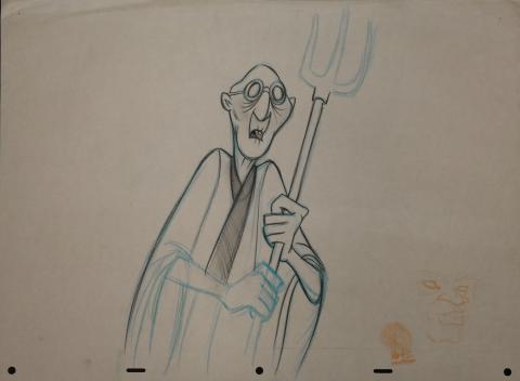 Mulan Rough Development Drawing - ID: janmulan2486 Walt Disney