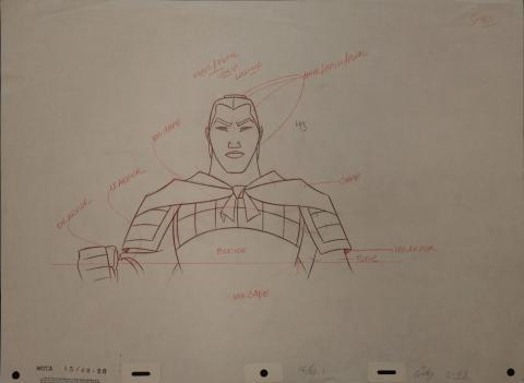 Mulan Production Drawing - ID: janmulan2490 Walt Disney
