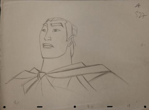 Mulan Production Drawing - ID: janmulan2492 Walt Disney