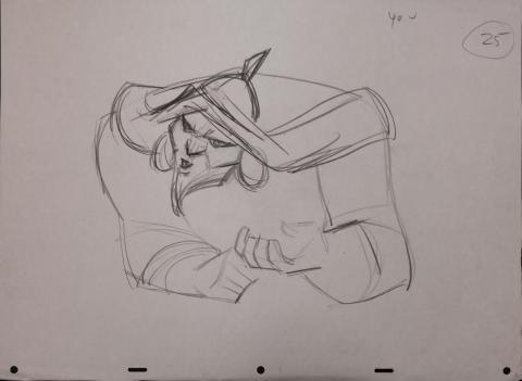Mulan Production Drawing - ID: janmulan2516 Walt Disney