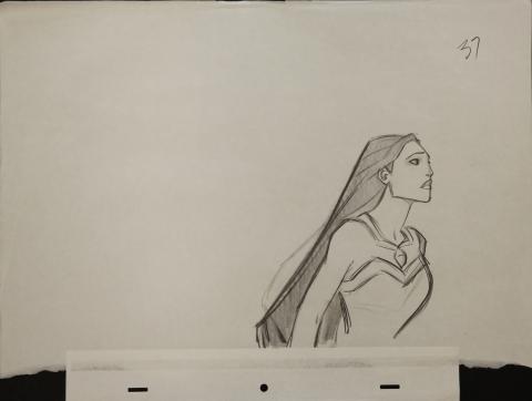 Pocahontas Production Drawing - ID: janpocahontas2462 Walt Disney
