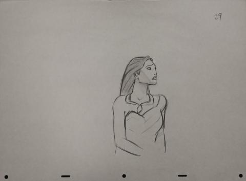 Pocahontas Production Drawing - ID: janpocahontas2464 Walt Disney