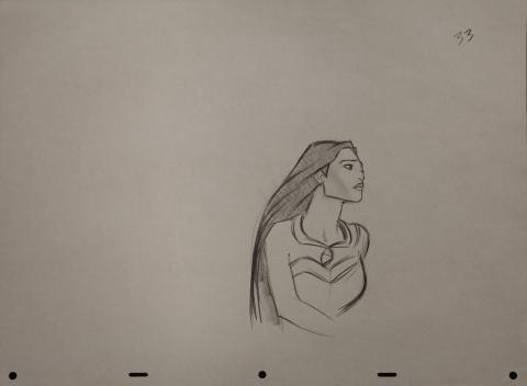 Pocahontas Production Drawing - ID: janpocahontas2466 Walt Disney