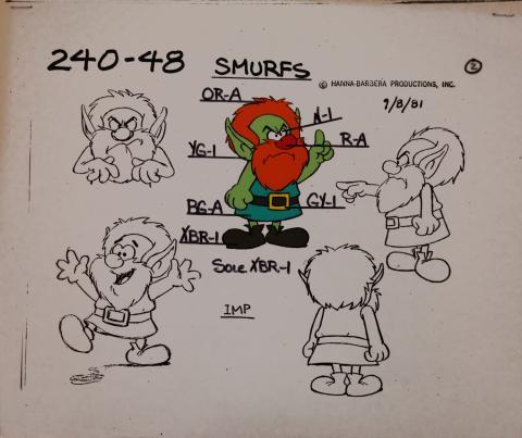 Smurfs Model Cel - ID: jansmurfs2553 Hanna Barbera