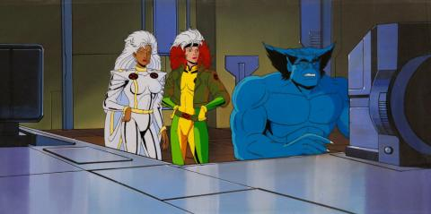 X-Men Production Cel & Background - ID: janxmen2863 Marvel