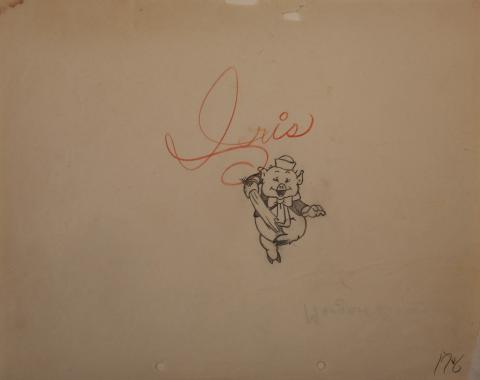 The Three Little Pigs Production Drawing - ID:marlittlepigs6288 Walt Disney