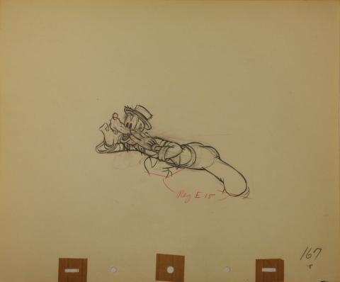 Goofy and Wilbur Production Drawing - ID:octgoofy0085 Walt Disney