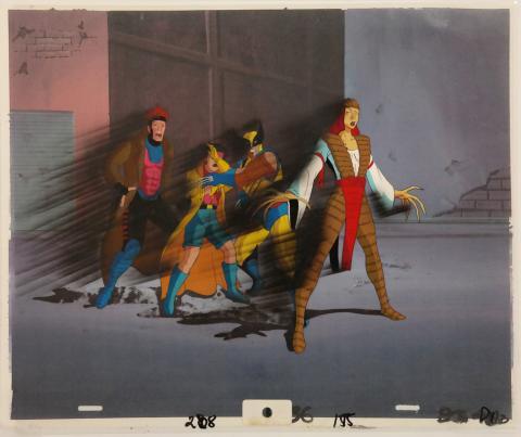 X-Men Gambit and Wolverine Production Cel - ID:octxmen0400 Marvel