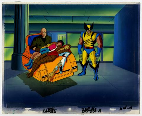 X-Men Wolverine and Lady Deathstrike Cel & Background - ID: septxmen6541 Marvel