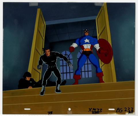 X-Men Captain America and Wolverine Cel & Background - ID: septxmen6564 Marvel