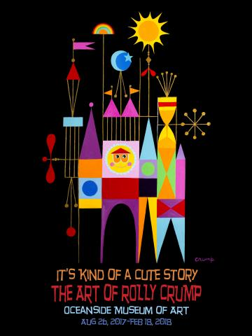 Rolly Crump Oceanside Museum of Art Exhibition Poster - ID:rollyoma17826 Disneyana