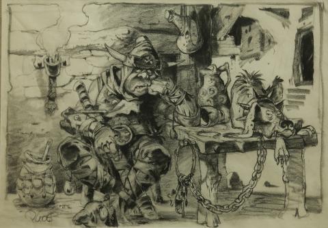 The Black Cauldron Concept Art - ID:fdcauldron01 Walt Disney
