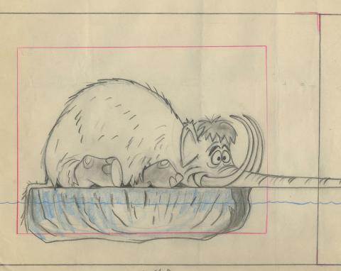 Sinbad Jr. Layout Drawing - ID: febsinbad9391 Hanna Barbera
