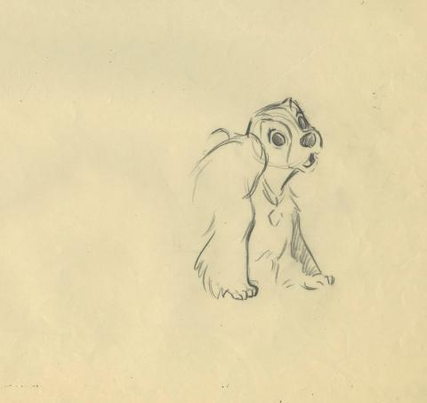 Lady and the Tramp Production Drawing - ID: febladytramp17344 Walt Disney