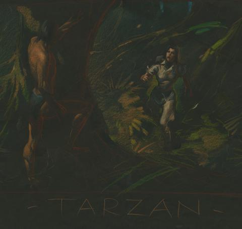 Tarzan Visual Development Drawing - ID: febtarzan17046 Walt Disney