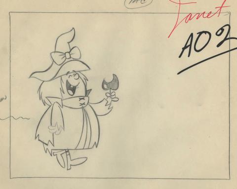 Winsome Witch Layout Drawing - ID: febwinsome9449 Hanna Barbera