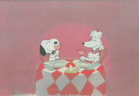 Snoopy Amp His Girlfriend Production Cel Id Jansnoopy5102