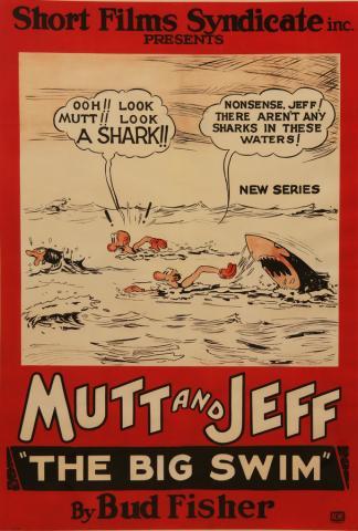 Mutt & Jeff One Sheet Poster - ID: maybigswim17005 Bud FisherFilms