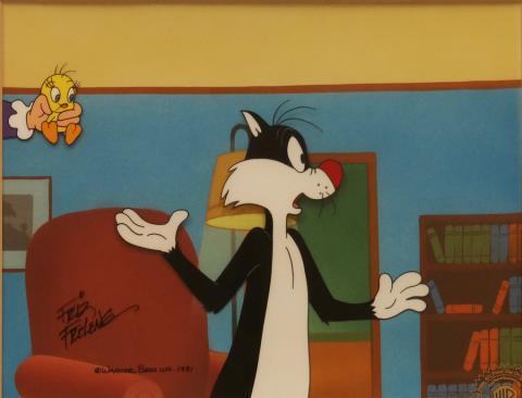Sylvester & Tweety Production Cel - ID: maysylvester17829 Warner Bros.
