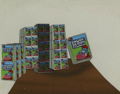 Smurf Berry Crunch Layout Drawing - ID: novsmurfs17429 Hanna Barbera