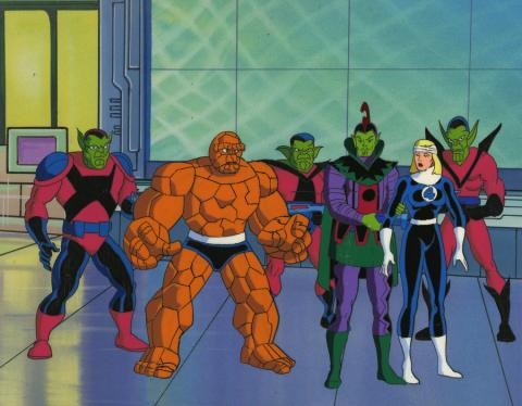 Fantastic Four Cel and Background - ID: octfantfour17103 Marvel