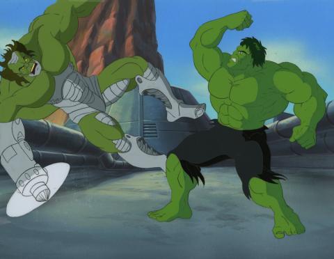 Incredible Hulk Cel & Background - ID: octhulk17059 Marvel