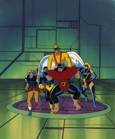 X-Men Cel and Background - ID: octxmen17290 Marvel