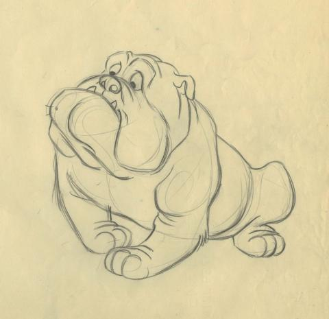 Lady and the Tramp Production Drawing - ID: septladytramp17993 Walt Disney