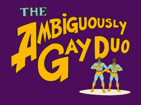 SNL Ambiguously Gay Duo Title Card Print - ID: septsnlagd - ID: snlagdcard JJ Sedelmaier