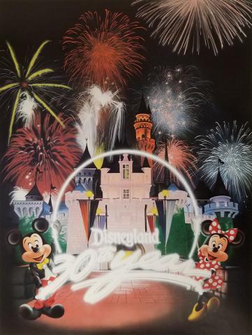 Disneyland 30th Anniversary Limited Edition Print - ID: aprdisneyland18046 Disneyana