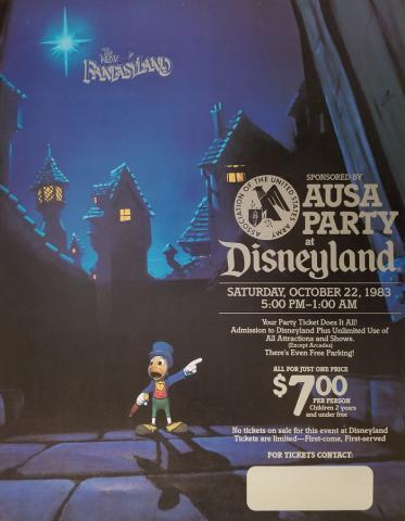 1983 New Fantasyland Disneyland Ticket Poster - ID: aprdisneyland18210 Disneyana