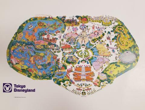 1980 Tokyo Disneyland Map Test Print - ID: aprdisneyland18351 Disneyana