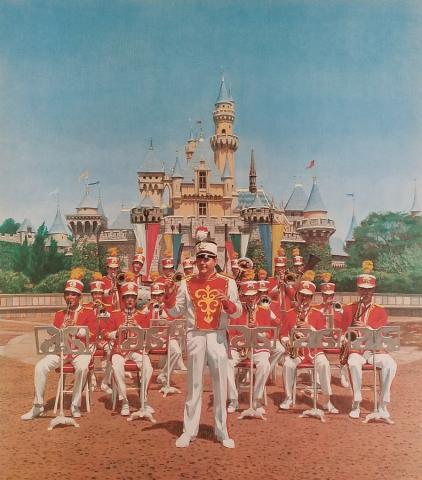Disneyland Main Street Band Test Print - ID: aprdisneyland18601 Disneyana