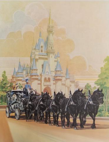 Disneyland Main Street Horse Carriage Test Print - ID: aprdisneyland18810 Disneyana