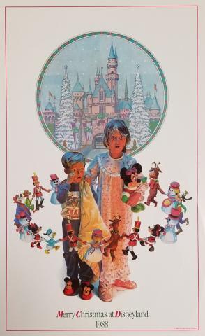 1988 Disneyland Christmas Test Print Poster - ID: aprdisneyland18811 Disneyana