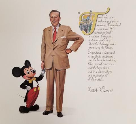 Walt and Mickey Disneyland Quote Print - ID: aprdisneyland18819 Disneyana