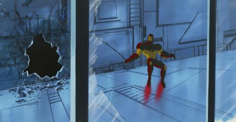 Iron Man Cel and Background - ID: octironman17476 - ID: aprironman18152 Marvel