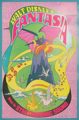 1970 Fantasia Signed Window Card - ID: novfantasia18356 Walt Disney