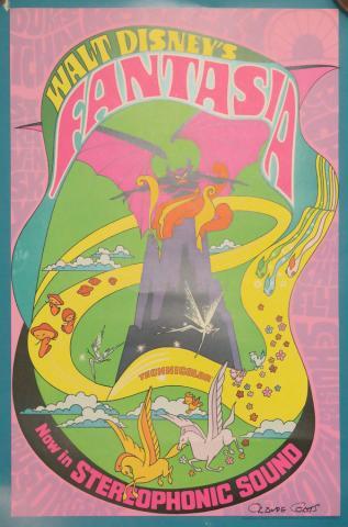 1970s Fantasia Signed One Sheet Poster - ID: novfantasia18355 Walt Disney