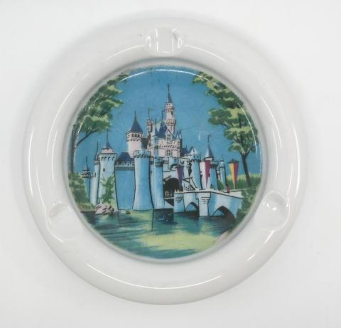 1960s Disneyland Sleeping Beauty Castle Ashtray (no gold) - ID: octdisneyana18504 Disneyana