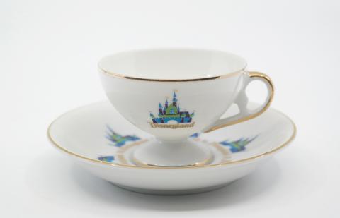 1970s Disneyland Cup & Saucer - ID: octdisneyana18665 Disneyana