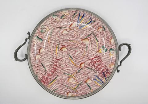1940 Fantasia Milkweed Ballet Plate w/ Metal Serving Rim - ID: octdisneyana18765 Disneyana