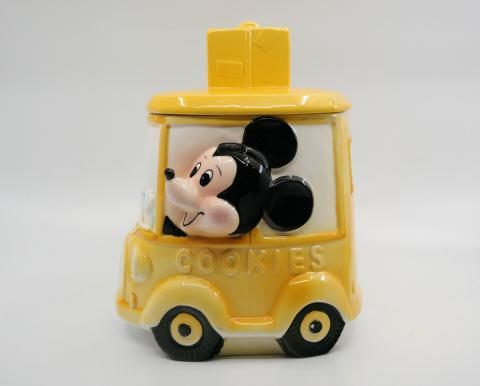1970s Mickey Mouse Bus Cookie Jar - ID: octdisneyana18790 Disneyana