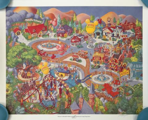Disneyland Toontown Exclusive Print - ID: augboyer19219 Disneyana