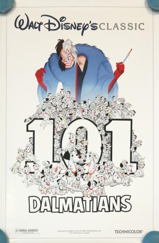1991 101 Dalmatians One-Sheet Poster - ID: augdalmatians19199 Walt Disney