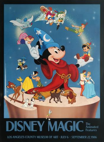 Disney Magic Los Angeles County Museum of Art Poster - ID: augdisneyana19386 Disneyana